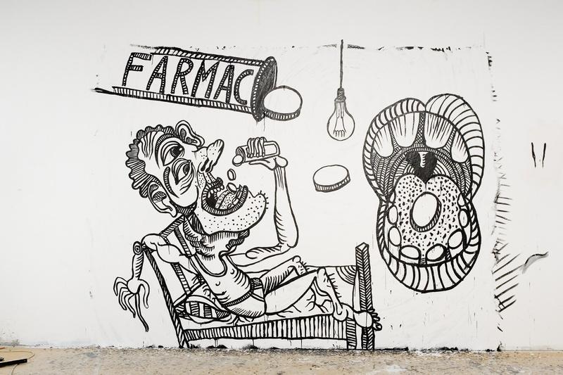 DMD Europa. Interactive Installation. Maladie. Pharmac. Author: Marcel·lí Antúnez . Photo: C. Rodriguez.