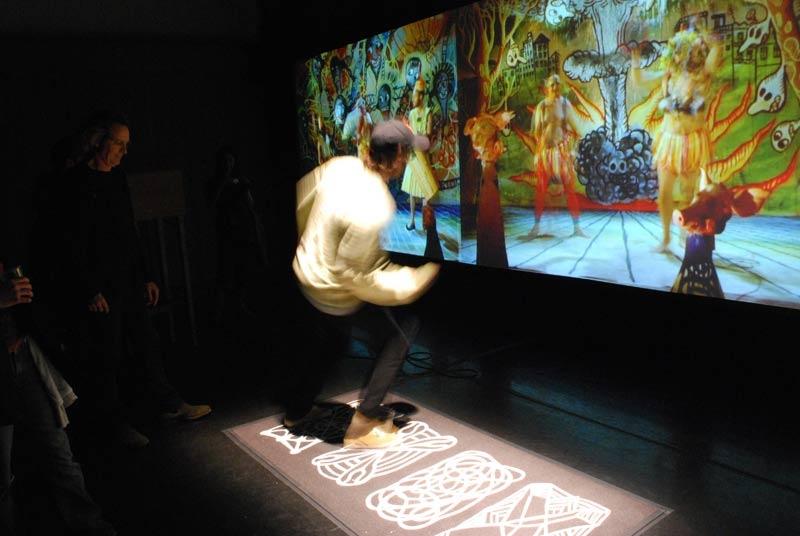 Metamembrana 2009, interactive installation. Musics del Raval scene. New York. Author: Marcel·lí Antúnez Roca. Photo: Oriol Ibañez.
