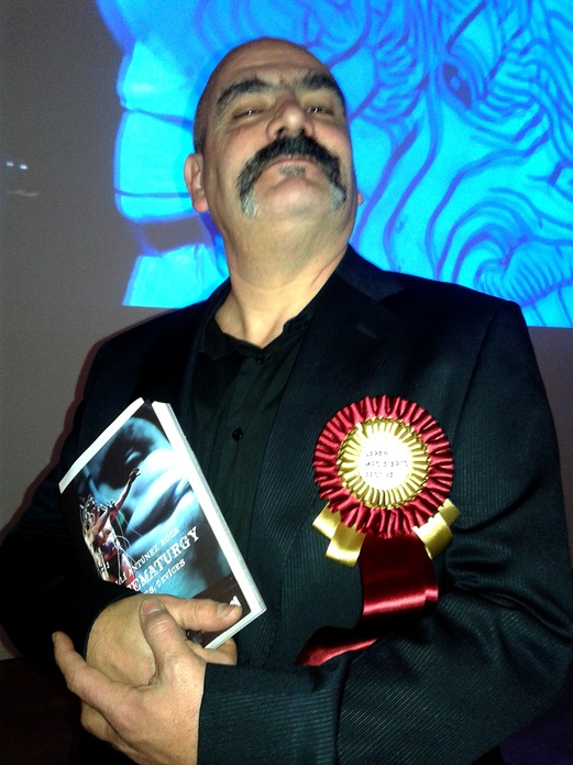 Marcel·lí with his book.