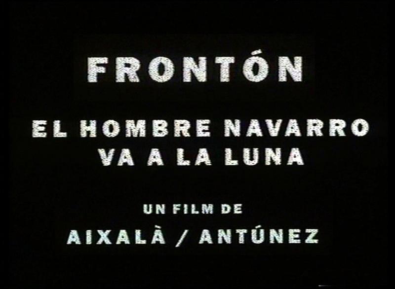 FRONTON 1993. Film.Title. Author: Marcel·lí Antúnez Roca & Aixalà.