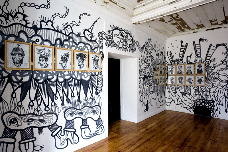 Transpermia Drawings. Specific Site. ZDB Gallery, Lisboa.. Author: Marcel·lí Antúnez Roca. Photo: Carles Rodriguez.