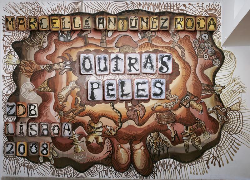 Mural Outras Peles. ZDB Gallery, Lisboa. Specific Site. Author: Marcel·lí Antúnez Roca. Photo: Carles Rodriguez.