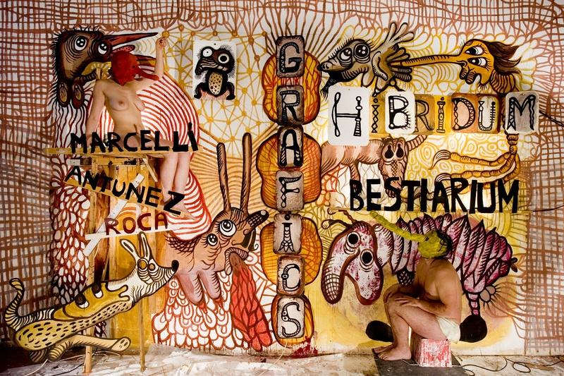 Hibridum Bestiarium, 2008. Exhibition book. Rojo Gallery, Barcelona. Author: Marcel·lí Antúnez Roca. Photo: Carles Rodriguez.