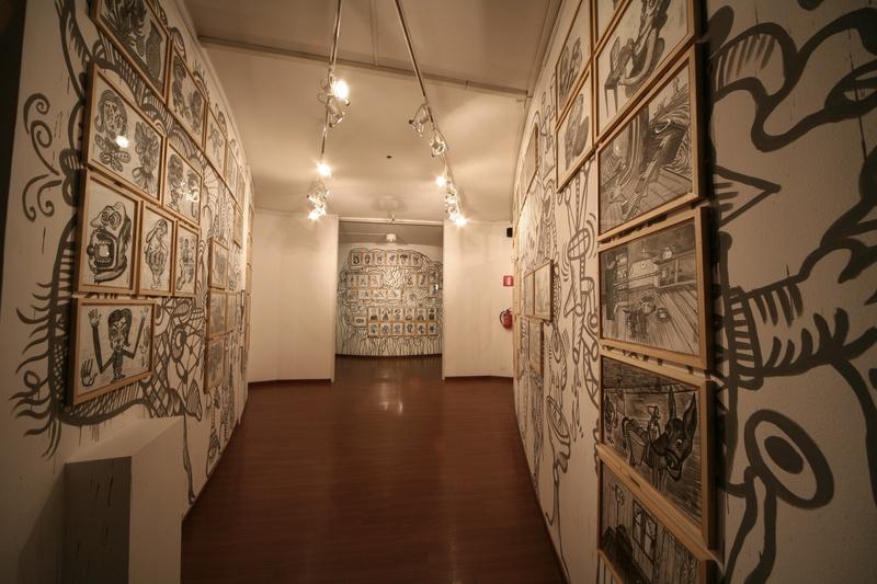 Interativita Furiosa, 2007. Exhibition. Protomembrana. Murals off. Gam Gallarate, Italy. Author: Marcel·lí Antúnez Roca. Photo: Walter Capelli.