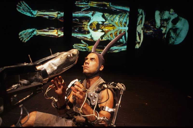 Pol 2002, Mechatronic performance.Serpe scene. Author: Marcel·lí Antúnez Roca. Photo: Darius Koehli.
