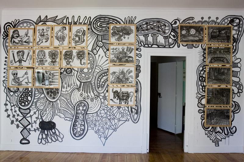 Mural Membrana. Specific Site. Front view. ZDB Gallery, Lisboa. Author: Marcel·lí Antúnez Roca. Photo: Carles Rodriguez.