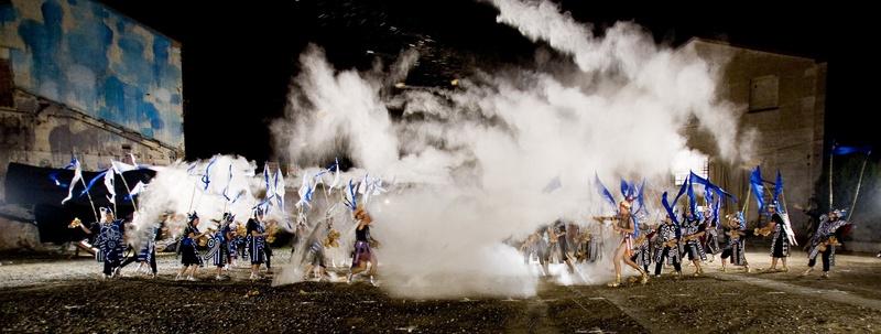 Metamembrana2009, interactive installation. Blancs i Blaus scene. Video Bank. Author: Marcel·lí Antúnez Roca. Photo: Carles Rodriguez.