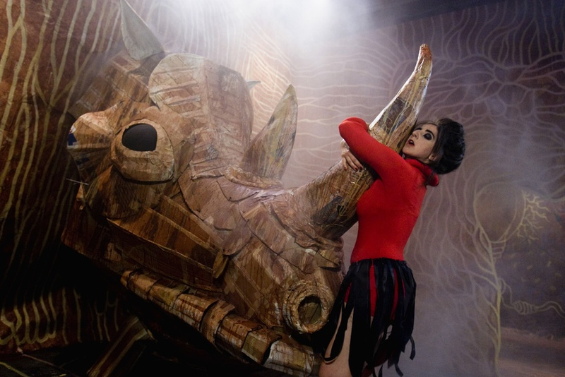 El Peix sebastiano, 2011. Film. Making of glandula rino. Author: Marcel·lí Antúnez Roca. Photo: Carles Rodriguez.