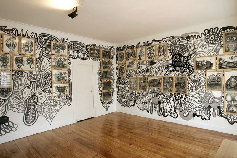 Mural Membrana. Specific Site. Left/Right view. ZDB Gallery, Lisboa. Author: Marcel·lí Antúnez Roca. Photo: Carles Rodriguez.