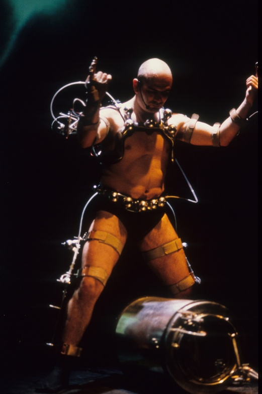Afasia1998. Mechatronic Performance. Demo robots scene. Author: Marcel·lí Antúnez Roca. Photo: Darius Koehli.