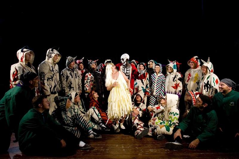 Metamembrana 2009, interactive installation. El Triomf de la Mort scene. Diables de Reus. Author: Marcel·lí Antúnez Roca. Photo: Carles Rodriguez.