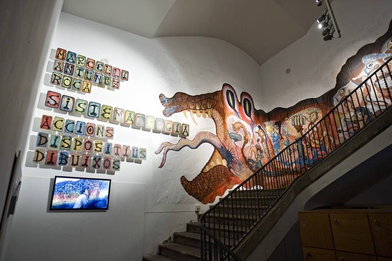Mural SADDI. Author: Marcel·lí Antúnez Roca. Photo: Carles Rodriguez.