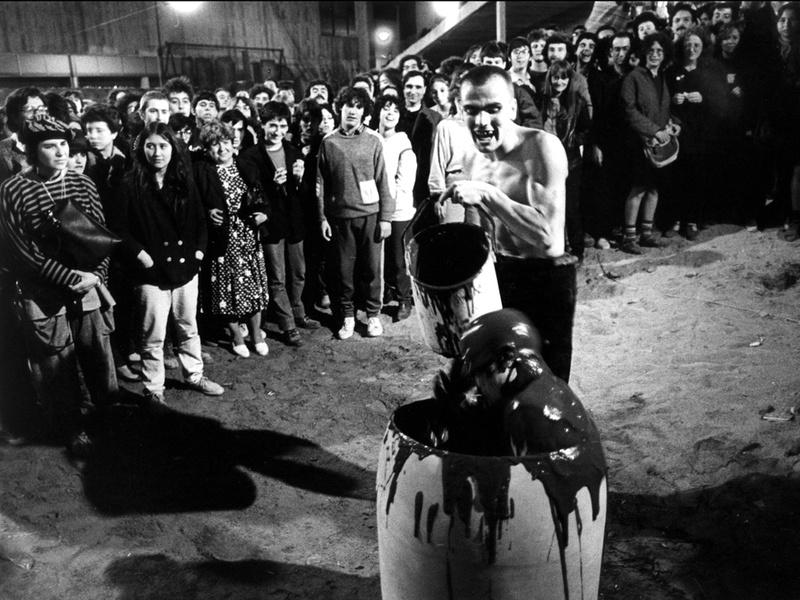 La Fura dels Baus. Accions 1984. Bips. Author: La fura dels baus. Photo: Josep Gol.