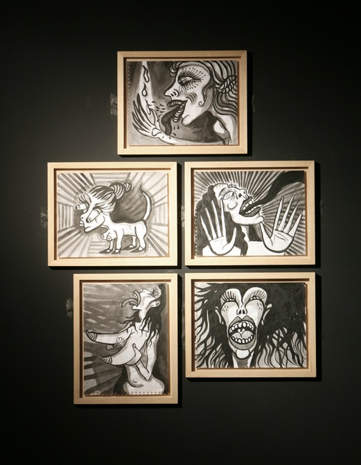 Interativita Furiosa, 2007. Exhibition. Drawings Afasia. Gam Gallarate, Italy. Author: Marcel·lí Antúnez Roca. Photo: Walter Capelli.