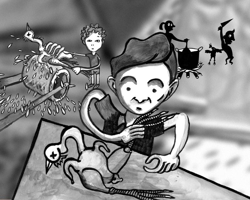 DIBUIXANT 2005. Documentary film. Childhood cartoon frame. Author: Marcel·lí Antúnez Roca.