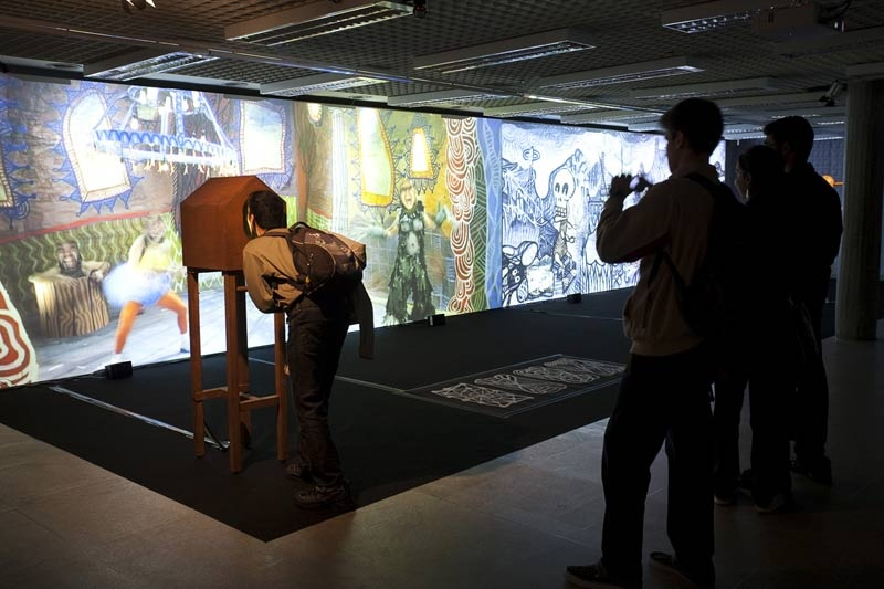 Metamembrana 2009, interactive installation. Guinyol scene, Sao Paulo. Author: Marcel·lí Antúnez Roca. Photo: Oriol Ibañez.