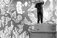 Author: Marcel·lí Antúnez Roca. Photo: Angelo Zanella. <a href='http://marceliantunez.com/media/img/work/22Interativita_Furiosa_2007_exhibition_Sistematurgy_mural_making_of.jpg' target='_blank'>Download original</a> <span style='color:transparent'>718</span>