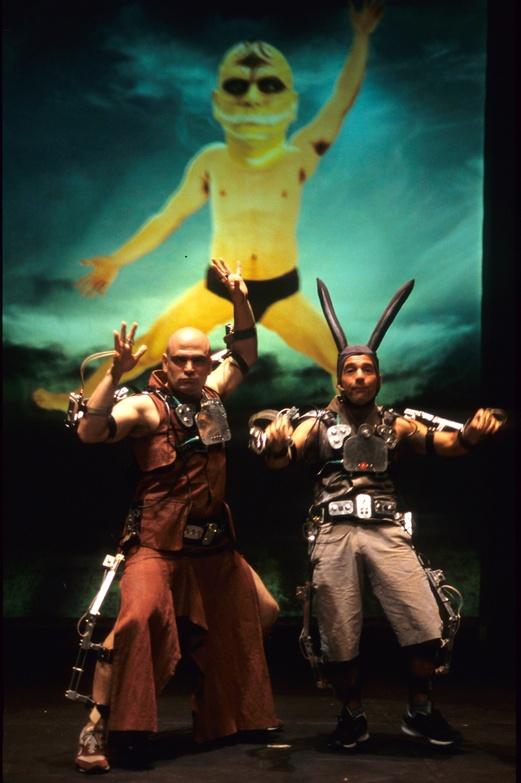 Pol 2002, Mechatronic performance. Ballbolas scene. Author: Marcel·lí Antúnez Roca. Photo: Darius Koehli.