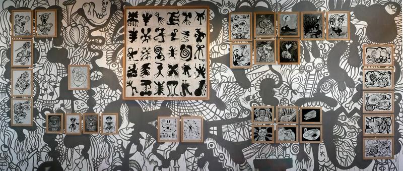 Interativita Furiosa, 2007. Exhibition. Sistematurgy mural. Gam Gallarate, Italy. Author: Marcel·lí Antúnez Roca. Photo: Oriol Ibañez.