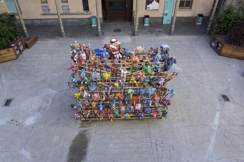 MILCAPS TOP VIEW. Author: Marcel·lí Antúnez Roca. Photo: Carles Rodriguez.