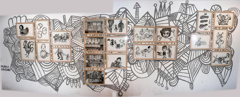 Interativita Furiosa, 2007. Exhibition. Dibuixant mural. Gam Gallarate, Italy. Author: Marcel·lí Antúnez Roca. Photo: Oriol Ibañez.
