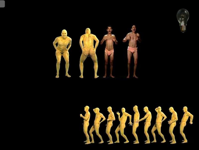 Human Machine 2001. Interactive Installation. Animation. Author: Marcel·lí Antúnez Roca.