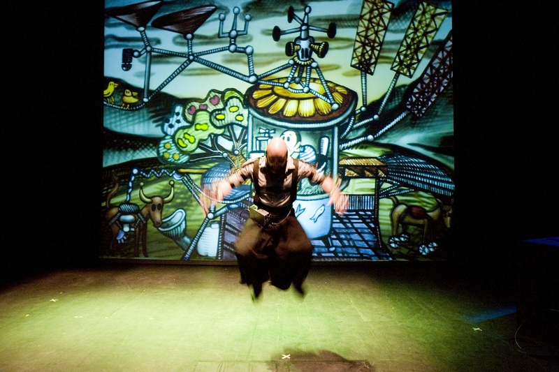 Protomembrana 2006. Interactive Performance.  Utopichouse scene. Author: Marcel·lí Antúnez Roca. Photo: Carles Rodriguez.