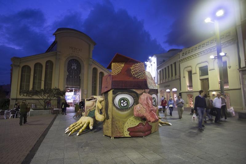 Monutafi Terrassa installacio 4. Author: Marcel·lí Antúnez. Photo: Carles Rodríguez  .