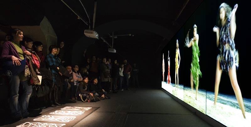 Metamembrana 2009, interactive installation. Arbre Paradis scene. Barcelona. Author: Marcel·lí Antúnez . Photo: Oriol Ibañez.