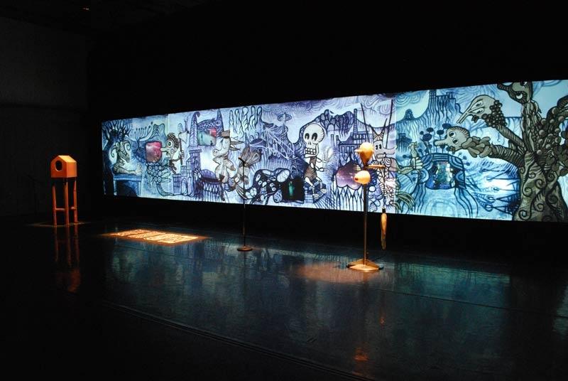 Metamembrana 2009, interactive installation. General view, New York. Author: Marcel·lí Antúnez Roca. Photo: Oriol Ibañez.