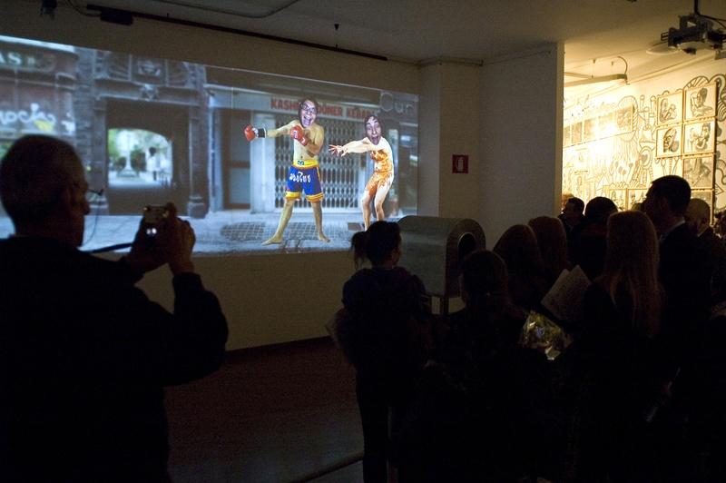 Interativita Furiosa, 2007. Exhibition. Opening.Gam Gallarate, Italy . Author: Marcel·lí Antúnez Roca. Photo: Miriam Broggini.