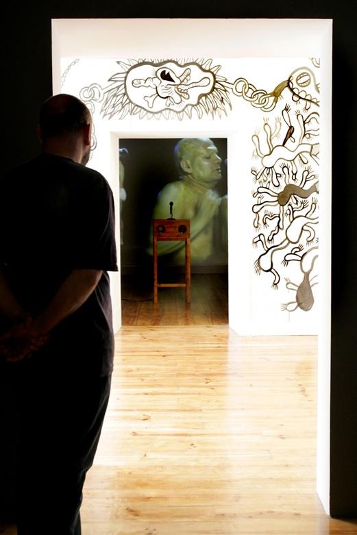 Transpermia Drawings. Specific Site. Entrance Room. ZDB Gallery, Lisboa. Author: Marcel·lí Antúnez Roca. Photo: Carles Rodriguez.