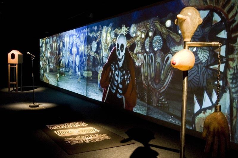 Metamembrana 2009, interactive installation. General view, Barcelona. Author: Marcel·lí Antúnez Roca. Photo: Carles Rodriguez.