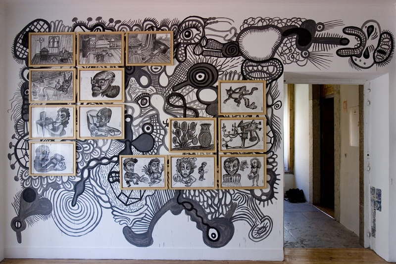 Mural Membrana. Specific Site. Left view. ZDB Gallery, Lisboa. Author: Marcel·lí Antúnez Roca. Photo: Carles Rodriguez.