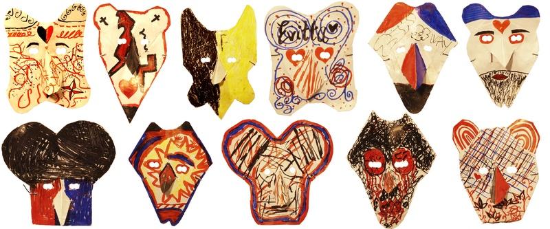 Users drawing masks.